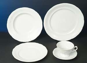 frederike servizio di piatti servizio combinato in porcellana di lusso bianco 60 pezzi per 12. Black Bedroom Furniture Sets. Home Design Ideas
