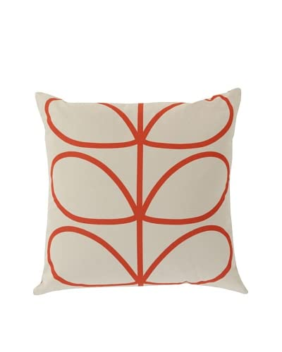 Orla Kiely Red Down Pillow