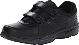 New Balance Men\'s MW411 Health Walking Shoe,Black,7.5 2E US