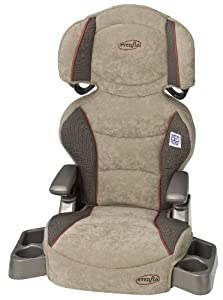Evenflo Big Kid Booster Car Seat, Colonnade Red