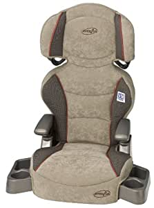 Evenflo Big Kid Booster Car Seat, Colonnade Red (Discontinued by Manufacturer)