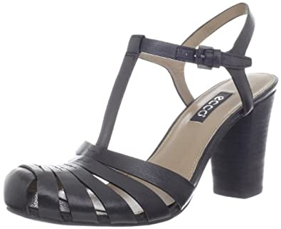 ECCO Women's Omak Closed Toe Sandal,Black,40 EU/9-9.5 M US