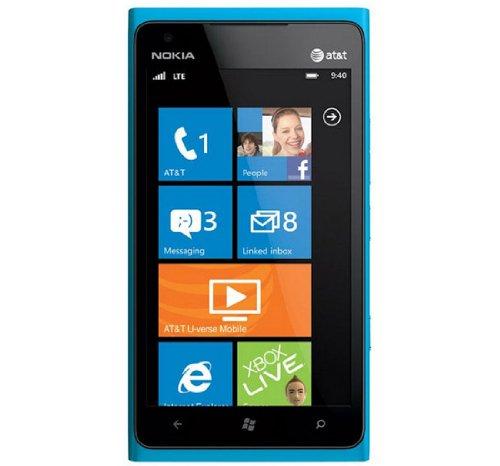 Nokia Lumia 900 Blue (Cyan) Factory Unlocked International Version 8MP Carl Zeiss Made in Korea Original Phone-No Warranty (Nokia Lumia 900 Unlocked compare prices)