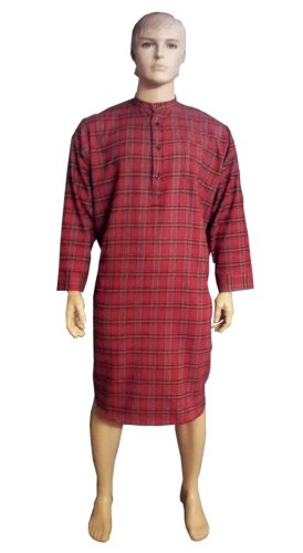 Mens Nightwear Original Traditional Nightshirt 100% Cotton By Magee Tartan Woven, Various Sizes