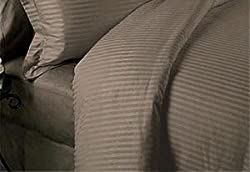 Classic Hotel Quality 1PC Duvet Cover 300 Thread Count Double 100% Pima Cotton Taupe Stripe by Splendid