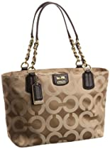 Coach Op Art Signature Madison Sateen Tote Bag 20481