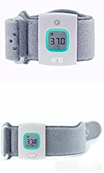 iFever Bluetooth Intelligent Thermometer Baby Wearable Infrared Smart Monitor Body Temperature in BLUE