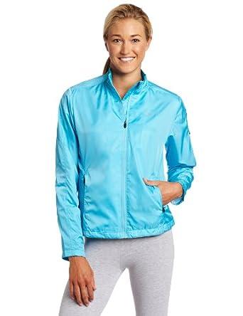 亚瑟士超轻防水防风夹克 浅蓝$25.21 ASICS Women's Spry Jacket