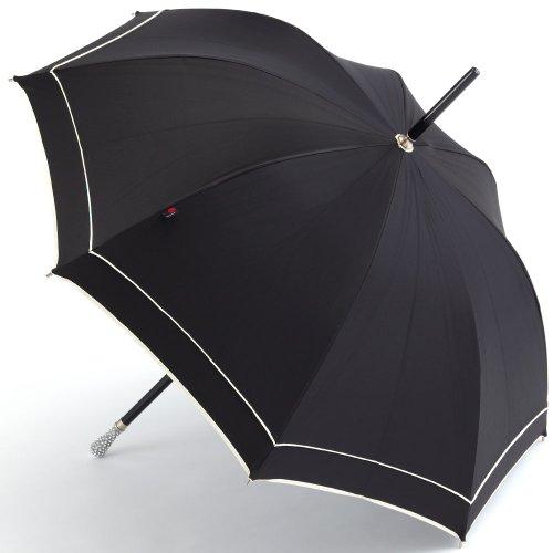 Knirps/クニルプス ドイツ製 ハンドメイド傘 スワロフスキー (ブラック×ホワイト) swarovski 長傘