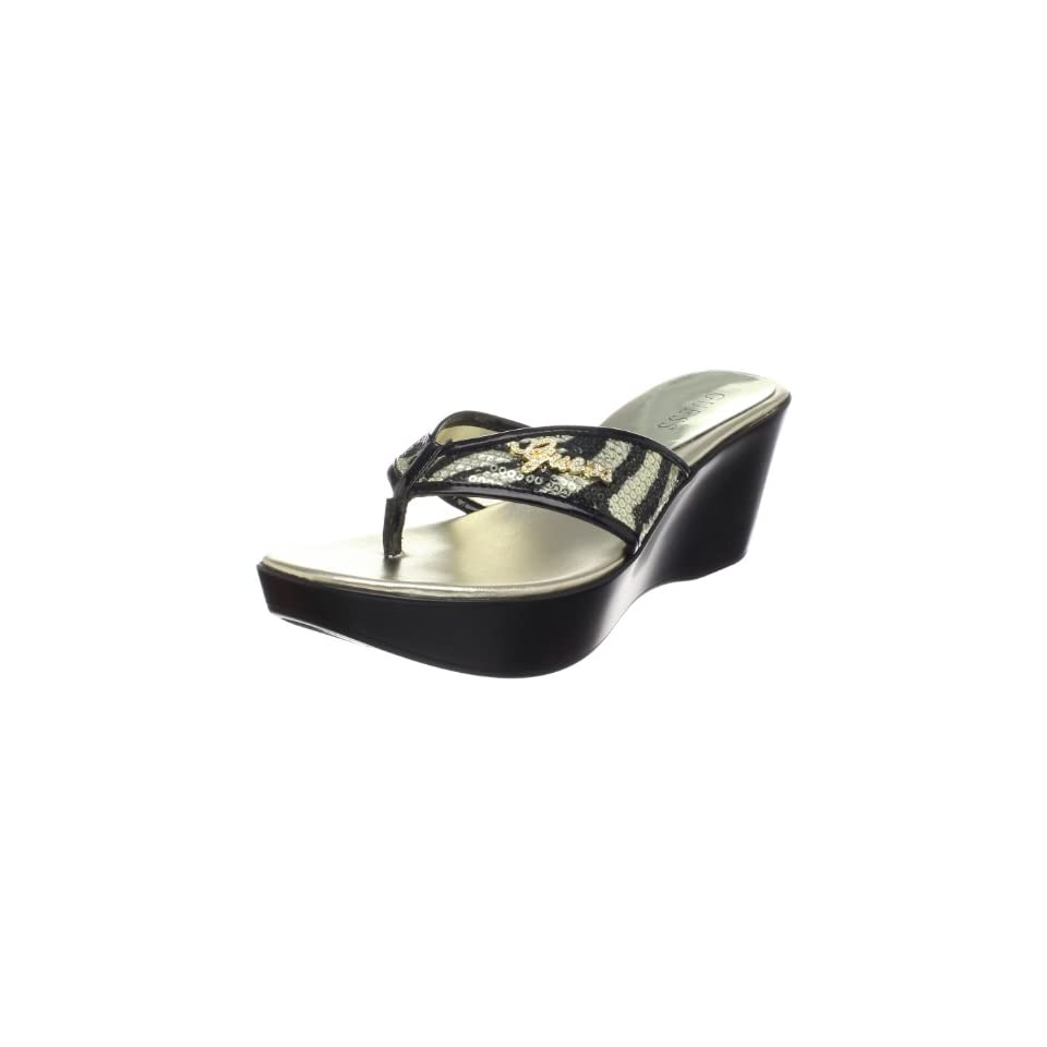 ee3aa9307459 GUESS Womens Eclipsis Thong Sandal designer shoes