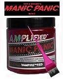 Manic Panic Amplified Hair Dye - Vegan Hair Dye - Vampire Red & Pink Tint Brush