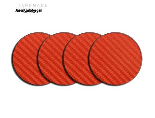 Centre de roue en alliage PAC Badges pour Skoda Honda mg (Clr 57mm), autocollant, rouge carbone
