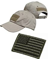 Ultimate Arms Gear� Tactical Military Coyote Tan Baseball Sport Team Hat Cap + USA Flag Patch