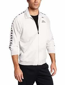 Kappa Men's Banda Anniston Track Jacket, White, Small