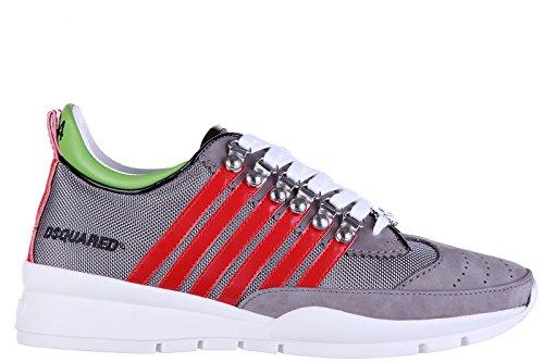 Dsquared2 scarpe sneakers uomo in pelle nuove tessuto tecnico 251 grigio EU 42 S16SN101 081 M119