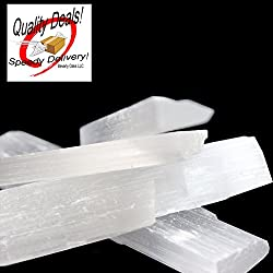 3 Selenite Sticks and Wands 7-8 inches long & 3/4 -1 inch wide Beautiful wands in a White Box