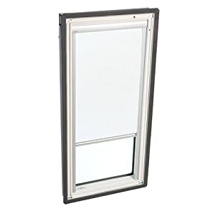 velux dkd m06 1025 skylight blind manually operated blackout for velux fs m06 models white. Black Bedroom Furniture Sets. Home Design Ideas