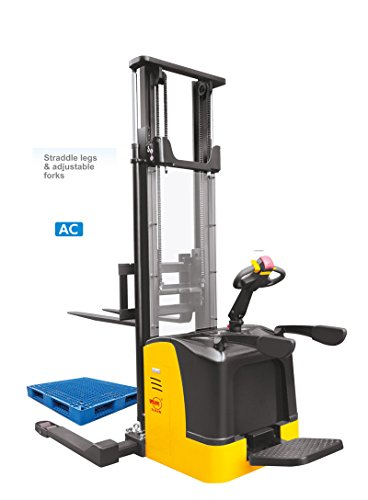 "Xilin Rider Electric Stacker 3300Lbs Capacity 138"" Lift Height-"