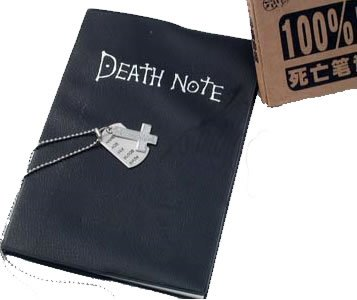 Death Note Anime Manga Notebook & Name Tag Necklace + Pin