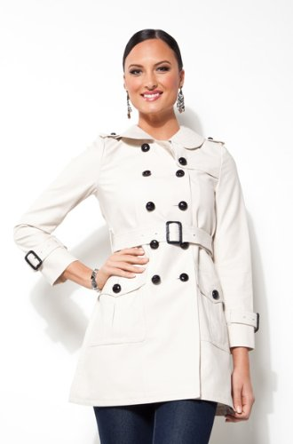 Coach Cream Great American Trench Coat 80647PAR-8