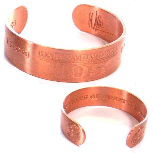 Harley Davidson 105th Anniversary Copper Bracelet