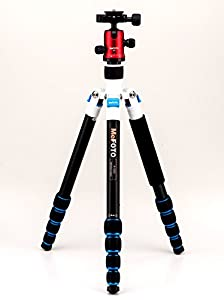 MeFoto Aluminum A1350Q1RWB Roadtrip Travel Tripod Kit EXCLUSIVE COLOR (Red White Blue)