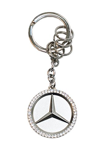 Mercedes Benz Star Key Ring w/Swarovski Crystals (Mercedes Benz Ring compare prices)