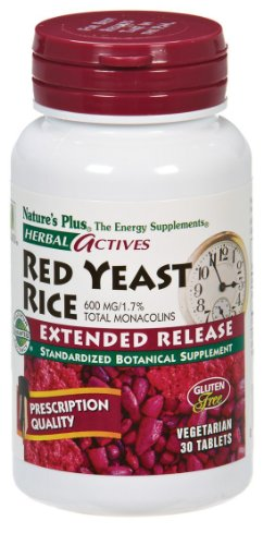 Nature'S Plus Herbal Actives Red Yeast Rice -- 600 Mg - 30 Tablets