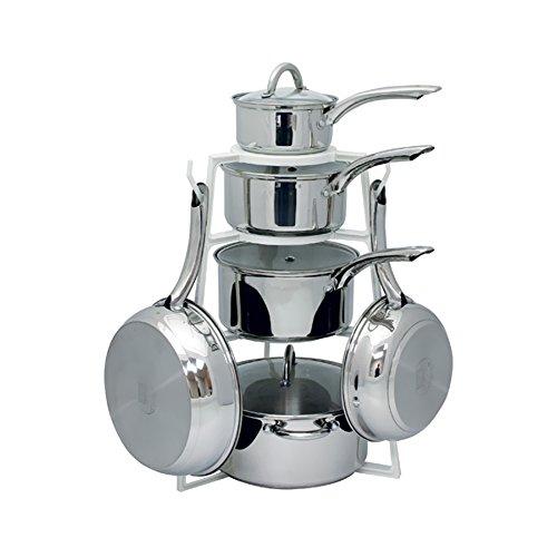 Rangekleen Home Kitchen Gadgets Cooking Utensils PanTree Under Counter Stacking Cookware Storage Organizer