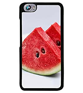 Fuson Premium Water Melon Metal Printed with Hard Plastic Back Case Cover for Micromax Canvas Fire 4 A107