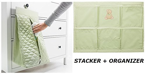 Ikea Diaper Stacker Nursery Organizer Baby Changing Nanig (2 Piece) Green