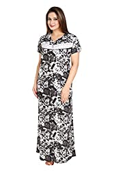 Vimal Fashion Cotton Multi Colour Printed Night Wear / Nightgown / Women Sleepwear / Womans Pyjamas (VF037)