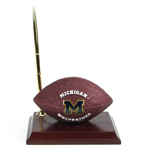 Michigan Wolverines Mascot Football Clock/Pen