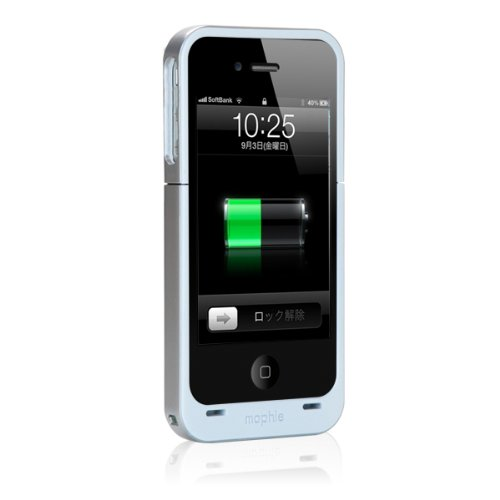 【日本正規代理店品】mophie juice pack air for iPhone 4S/4 ホワイト MOP-PH-000008