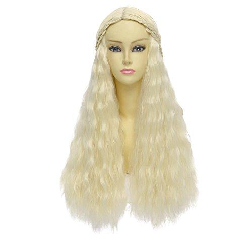 Game of Thrones Daenerys Targaryen Costume Long Curly Wavy Hair Wig
