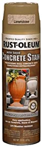 Rust-Oleum 247163 Concrete Stain Spray, Limestone, 15-Ounce