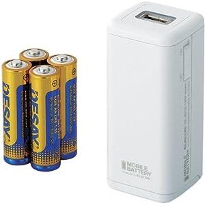 ELECOM iPhone対応 モバイルバッテリー 乾電池 DE-A01D-1908