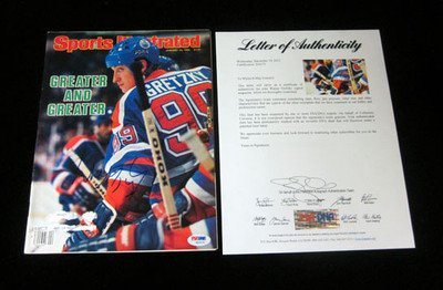 Wayne Gretzky Signed Sports Illustrated 1/23/84 Auto - PSA/DNA Certified - Autographed NHL Magazines