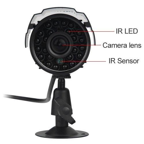 SUNLUXY-CCTV-IR-Nachtsicht-Auen-fr-DVR-Farb-wetterfeste-Infrarot-Video-berwachungskamera-Sicherheitskamera
