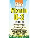 Bio Nutrition D3 12000 Iu Vegi-Caps, 50 Count