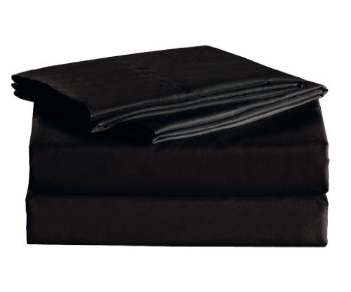 1600 Thread Count Sheet Set Egyptian Quality Wrinkle Resistance Black King front-1036348