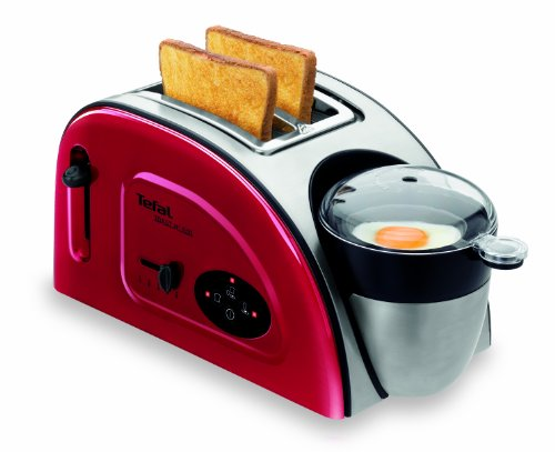 Tefal TT551515 Toast N Egg Maker, Metallic Red