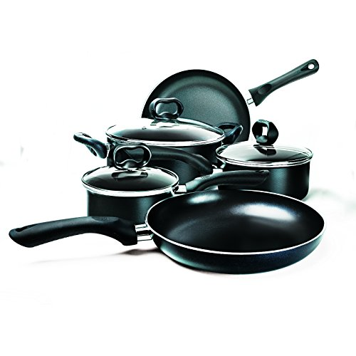 Ecolution EVBK-1208 8-Piece Evolve Non-Stick Cookware Set, Black