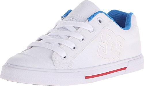DC Women's Chelsea TX Skate Shoe, White/Red/Blue, 10 M US