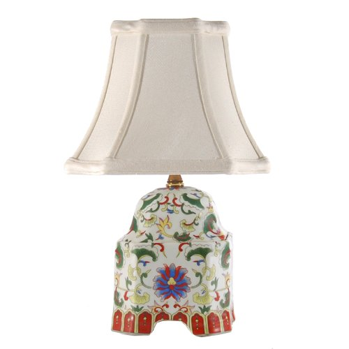 multicolor traditional small square porcelain accent table lamp new. Black Bedroom Furniture Sets. Home Design Ideas