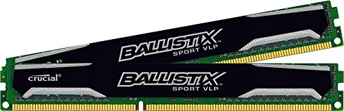 Ballistix Sport 8GB Kit (4GBx2) DDR3-1600 Very Low Profile UDIMM 240-Pin Memory BLS2K4G3D1609ES2LX0 (Crucial Ddr3 Low Profile compare prices)