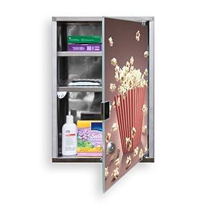 Medicine Cabinet High-Grade Steel new with motive: Popcorn