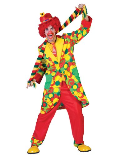 Bubbles Clown Adult Costume Md Adult Mens Costume