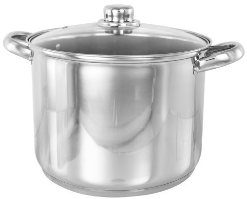Buckingham Deep Induction Stock Pot with Glass Lid 26 cm, 11 L