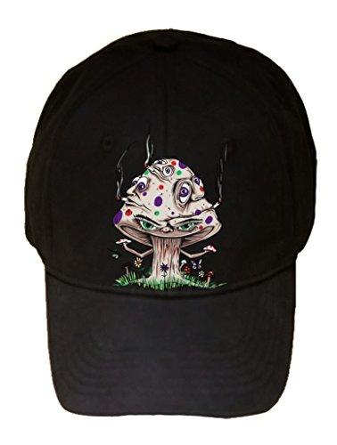 high-mushroom-funny-shroom-smoking-joint-cartoon-100-cotton-adjustable-hat